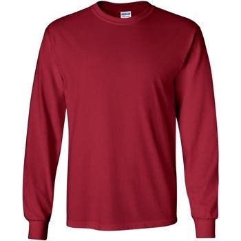 Textiel Heren T-shirts met lange mouwen Gildan 2400 Kardinaal