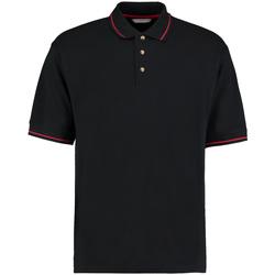 Textiel Heren Polo's korte mouwen Kustom Kit KK606 Zwart/Rood