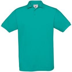 Textiel Heren Polo's korte mouwen B And C Safran Echt Turkoois