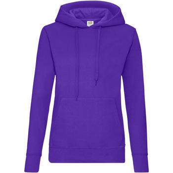 Textiel Dames Sweaters / Sweatshirts Fruit Of The Loom Hooded Paars