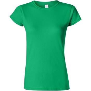 Textiel Dames T-shirts korte mouwen Gildan Soft Iers Groen