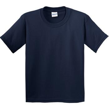 Textiel Kinderen T-shirts korte mouwen Gildan Soft Style Marine