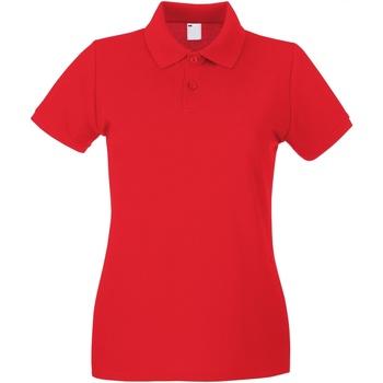 Textiel Dames Polo's korte mouwen Universal Textiles Casual Helder rood