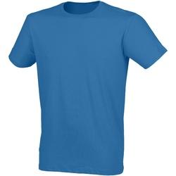 Textiel Heren T-shirts korte mouwen Skinni Fit Stretch Surf Blauw