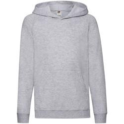 Textiel Kinderen Sweaters / Sweatshirts Fruit Of The Loom Hooded Heather Grijs