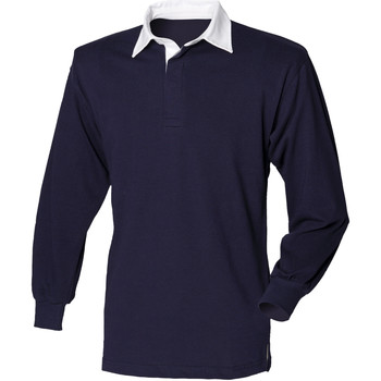 Textiel Heren Polo's lange mouwen Front Row Rugby Marine / Wit