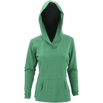 Textiel Dames Sweaters / Sweatshirts Anvil Hooded Heide Groen