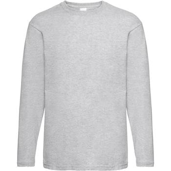 Textiel Heren T-shirts met lange mouwen Universal Textiles Casual Grijze Mergel
