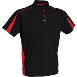 Textiel Dames Polo's korte mouwen Finden & Hales LV391 Zwart/Rood