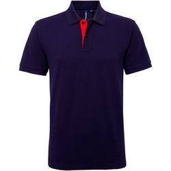Textiel Heren Polo's korte mouwen Asquith & Fox AQ012 Marine / Rood
