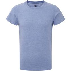 Textiel Jongens T-shirts korte mouwen Russell R165B Blauwe mergel