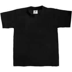 Textiel Kinderen T-shirts korte mouwen B And C Exact 190 Zwart