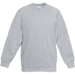 Textiel Kinderen Sweaters / Sweatshirts Fruit Of The Loom Raglan Heather Grijs