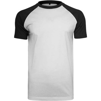 Textiel Heren T-shirts korte mouwen Build Your Brand Contrast Wit/zwart