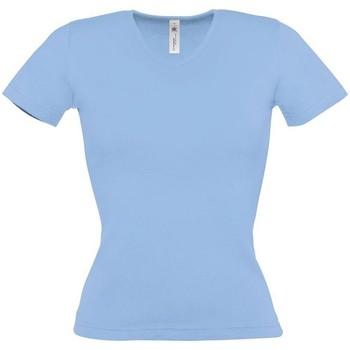 Textiel Dames T-shirts korte mouwen B And C BA116 Hemelsblauw