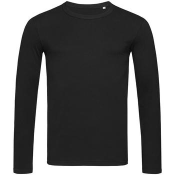 Textiel Heren T-shirts met lange mouwen Stedman Stars  Zwart