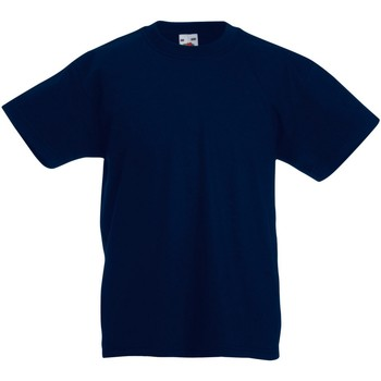 Textiel Kinderen T-shirts korte mouwen Fruit Of The Loom Original Donker Marine