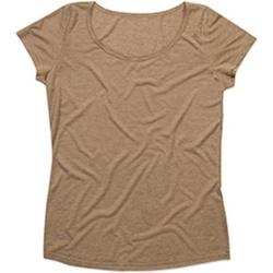 Textiel Dames T-shirts korte mouwen Stedman Stars Melange Vintage Bruin