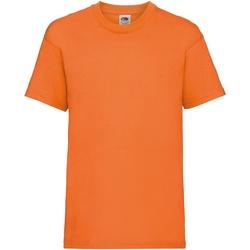 Textiel Kinderen T-shirts korte mouwen Fruit Of The Loom 61033 Oranje