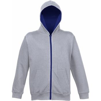 Textiel Kinderen Sweaters / Sweatshirts Awdis JH53J Heide Grijs/Franse marine
