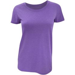 Textiel Dames T-shirts korte mouwen Bella + Canvas Triblend Paars Triblend