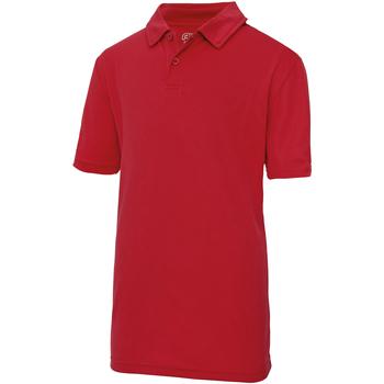 Textiel Kinderen Polo's korte mouwen Awdis JC40J Vuurrood