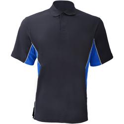 Textiel Heren Polo's korte mouwen Gamegear Pique Marine / Lichtblauw / Wit