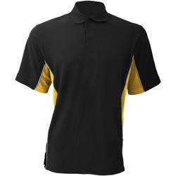 Textiel Heren Polo's korte mouwen Gamegear Pique Zwart/Zon geel/wit