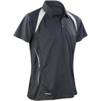 Textiel Heren Polo's korte mouwen Spiro Performance Zwart/Wit