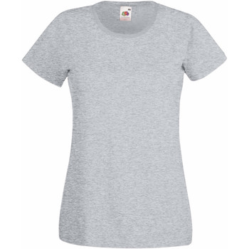 Textiel Dames T-shirts korte mouwen Fruit Of The Loom 61372 Heather Grijs