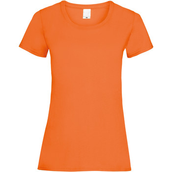 Textiel Dames T-shirts korte mouwen Universal Textiles Casual Helder oranje