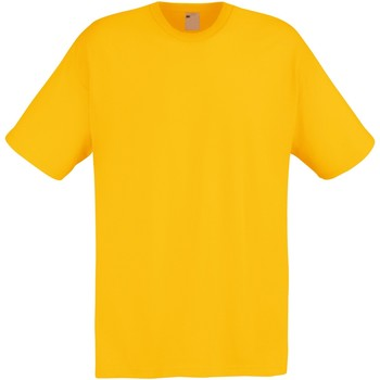 Textiel Heren T-shirts korte mouwen Universal Textiles Casual Goud