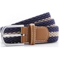 Accessoires Heren Riemen Asquith & Fox Two Colour Stripe Navy/Khaki