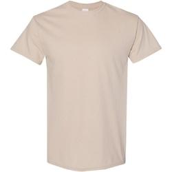 Textiel Heren T-shirts korte mouwen Gildan Heavy Zand