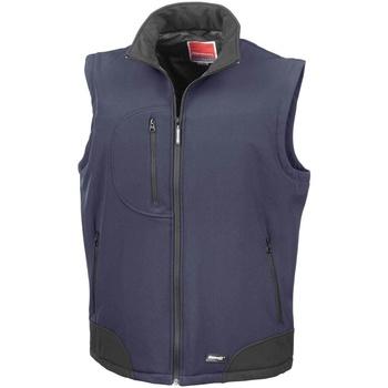 Textiel Heren Vesten / Cardigans Result Softshell Marine / Zwart