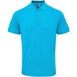 Textiel Heren Polo's korte mouwen Premier Coolchecker Turquoise