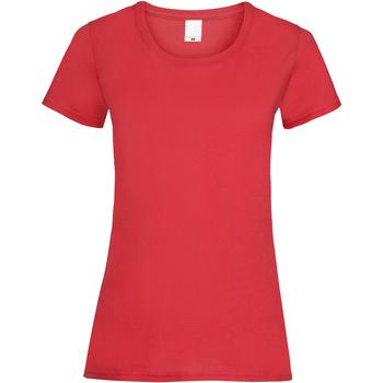 Textiel Dames T-shirts korte mouwen Universal Textiles Casual Helder rood