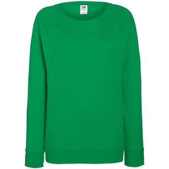 Textiel Dames Sweaters / Sweatshirts Fruit Of The Loom Raglan Kelly Groen