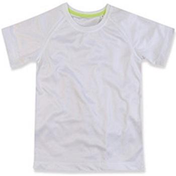 Textiel Kinderen T-shirts korte mouwen Stedman Raglan Wit