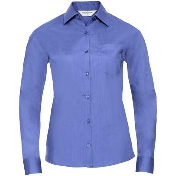 Textiel Dames Overhemden Russell 934F Bedrijfsblauw