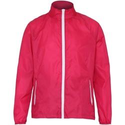 Textiel Heren Windjacken 2786  Heet Roze/Wit