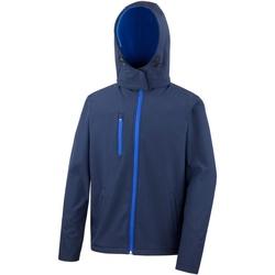 Textiel Heren Windjacken Result Hooded Marine / Loyaal