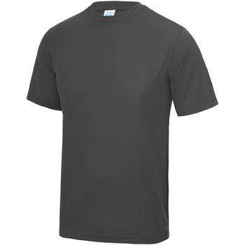 Textiel Kinderen T-shirts korte mouwen Awdis JC01J Houtskool