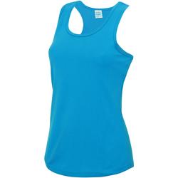 Textiel Dames Mouwloze tops Awdis Girlie Saffierblauw