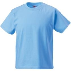 Textiel Kinderen T-shirts korte mouwen Jerzees Schoolgear Classics Hemelsblauw