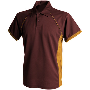 Textiel Heren Polo's korte mouwen Finden & Hales Piped Marron/ Amber/ Amber