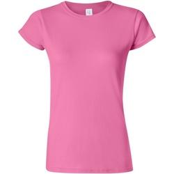 Textiel Dames T-shirts korte mouwen Gildan Soft Azalea