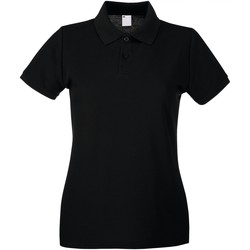 Textiel Dames Polo's korte mouwen Universal Textiles Casual Jet Zwart