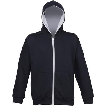 Textiel Kinderen Sweaters / Sweatshirts Awdis JH53J Nieuwe Franse marine / Heather Grey