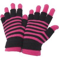 Accessoires Dames Handschoenen Universal Textiles Striped Roze